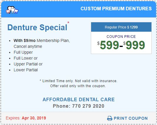 Denture Special Coupon