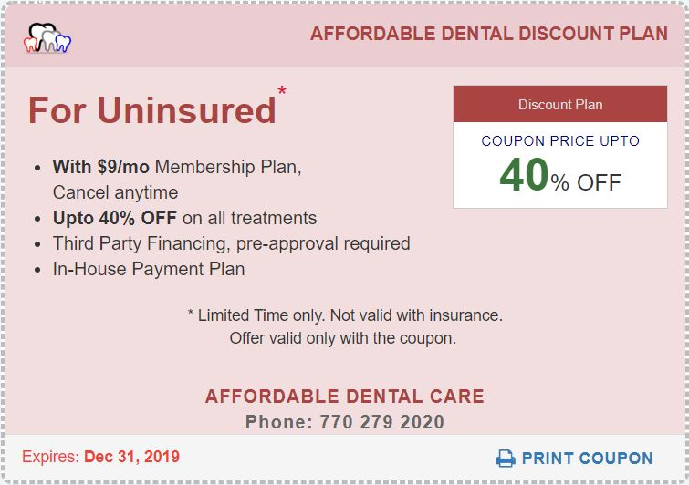 Affordable Dental Access for Uninsured Coupon